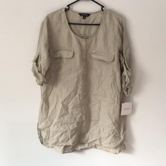 61061c9c40 Ellen Tracy Brand new tunic. 100% linen. Large